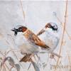 2 Musjes - 2011 * Acryl op doek - 15x15