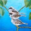 3 Musjes - 2011 * Acryl op doek - 15x15