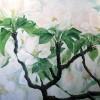 Appelbloesem langs de Linge - 2008 * Acryl op doek - 70x90