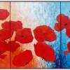 Drieluik rode papavers- 2006 * Acryl op doek - 80x120