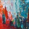 Flessen - 2003 * Acryl op doek paneel - 15x32