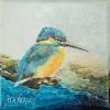 IJsvogeltje - 2008 * Acryl op doek/3D - 15x15
