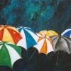 Na regen komt... - 2003 * Acryl op doek - 30x40