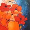 Vaas met rode papavers - 2006 * Acryl op doek - 70x50