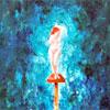 Vrouw - 2005 * Acryl op doek - 50x120