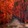 Rood Bos - 2009 * Gemengde Techniek op doek - 75x65