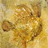 Rotstekening Vis II - 2003<br />Frescotechniek op houten paneel - 40x30