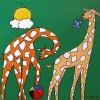 Groene Zebra - 2004 * Acryl op doek 30x30