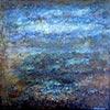 Blauw landschap - 2014 * Materie & Acryl - 60x60