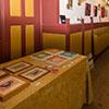 Expositie van Houtenkerk - handdrukken van vogels en waterlelies in acryl