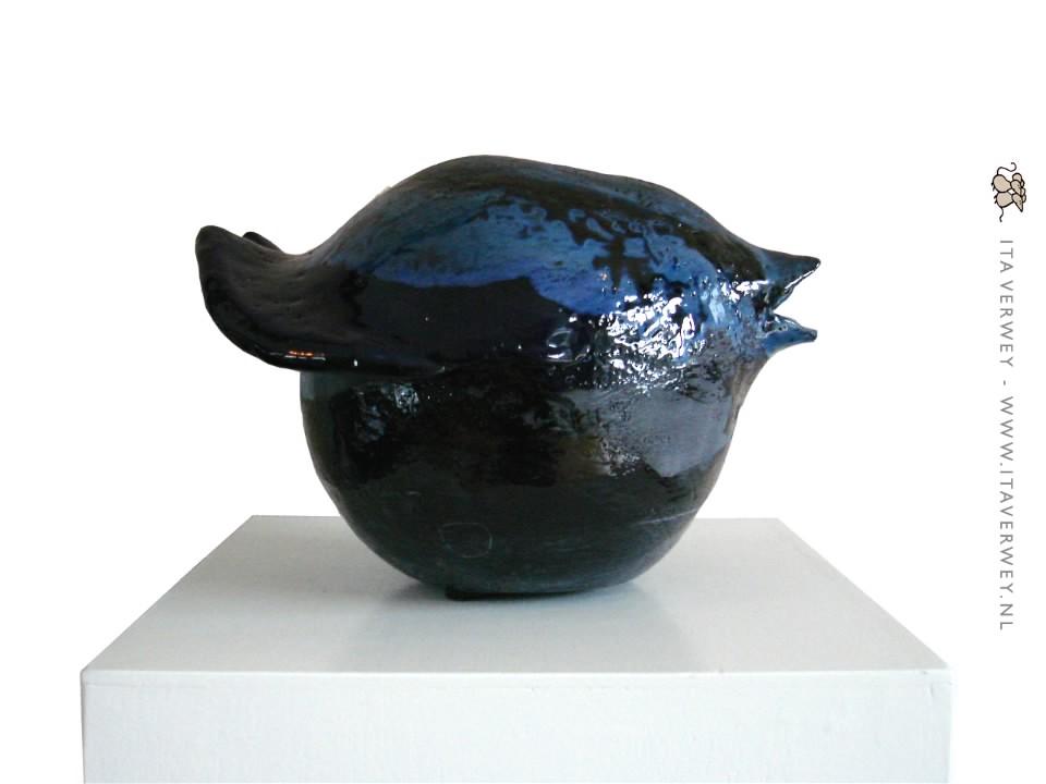 Blauwe Vogel - 2010 * Keramiek Ø 25 cm