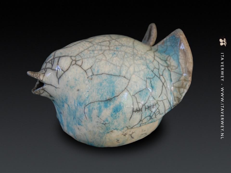 Blauwe Vogel - 2011 * Raku Keramiek Ø 25 cm