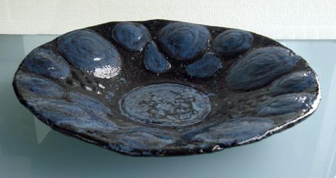 Blauwe schaal - 2010 * Keramiek - Ø 30 cm