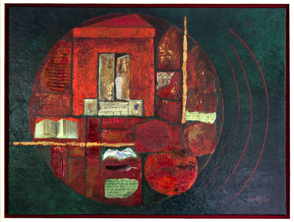 Welkom - 2013 * Gemengde techniek op doek - 65x85 - Inzending Groene Hart Kunstprijs 2013