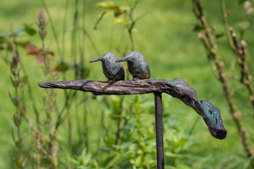 Twee IJsvogels op tak - brons