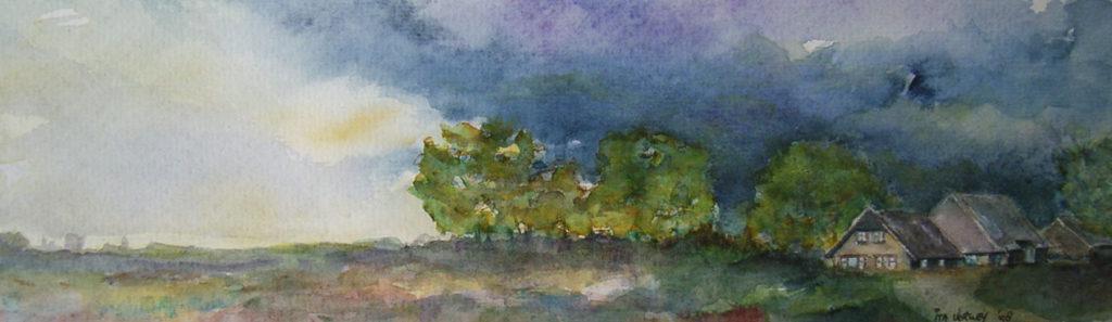 Landschap - Aquarel