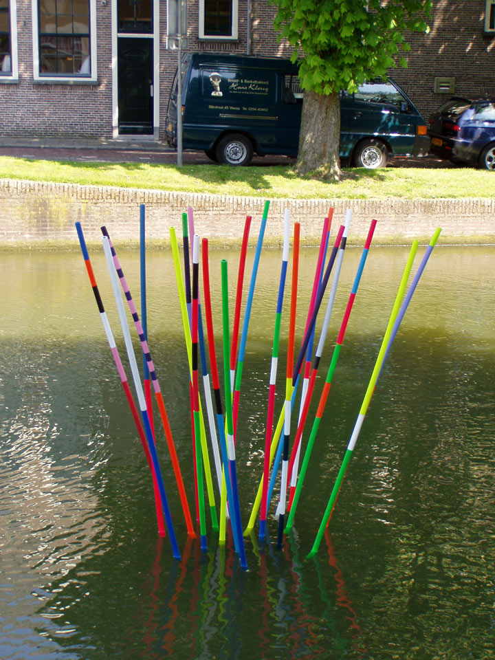 Waterproject in de gracht van Weesp