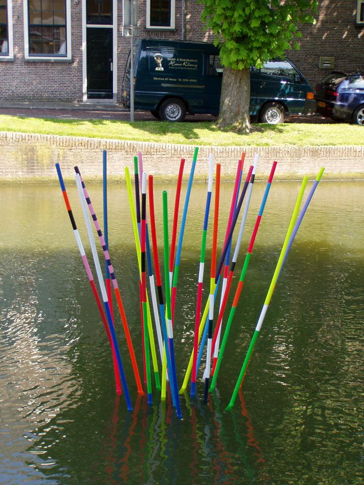 Waterproject in de gracht van Weesp