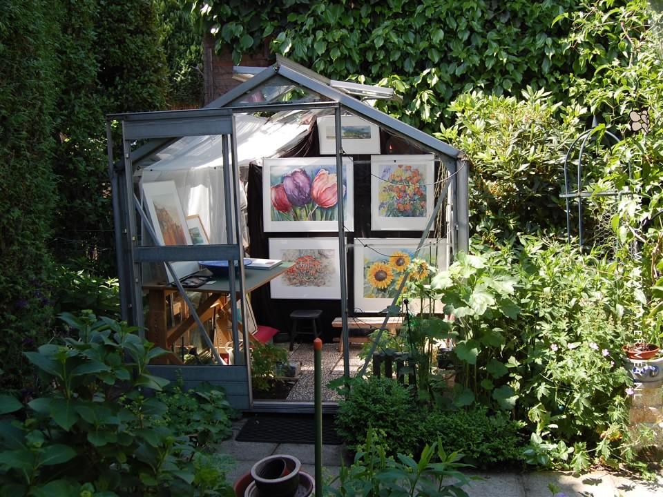 Open Atelier - Tuinexpositie in de kas