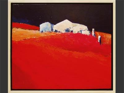 Rood landschap
