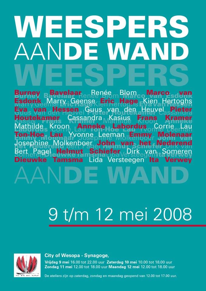 Weespers aan de Wand 2008 Poster